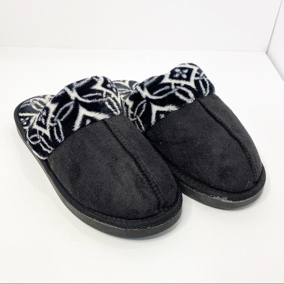 Vera Bradley Black and White Slippers